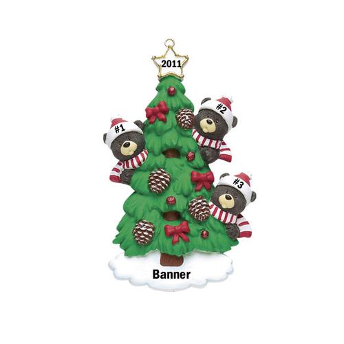 Bear Tree Family of 3