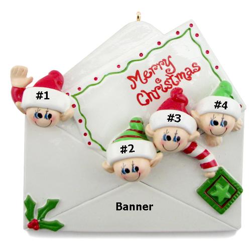 Elf Envelope Family of 4