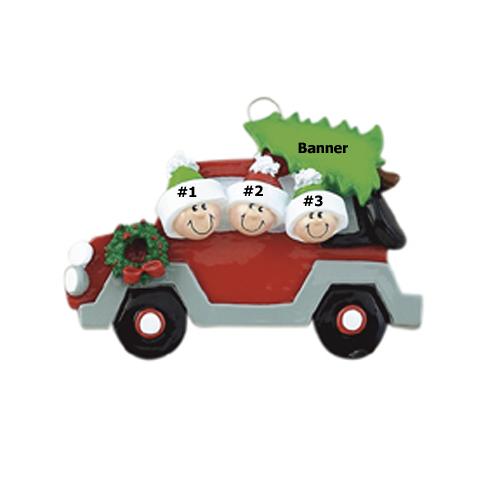 Christmas Caravan Family of 3