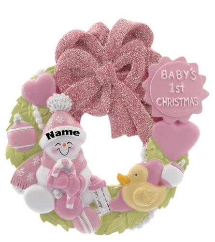 Baby's 1st Christmas Wreath