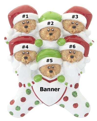 Bear Stocking Family of 6