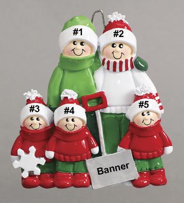 Snow Shovel Family of 5