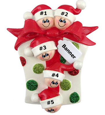 Glitter Gift Family of 5