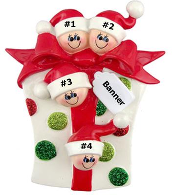 Glitter Gift Family of 4