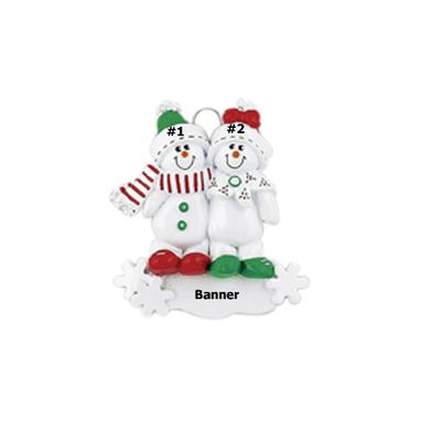 Cute Snowman Family of 2