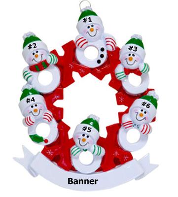 Snowman Wreath Family of 6