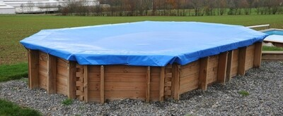 6.07m x 3.96m Debris Cover for Wooden Pool