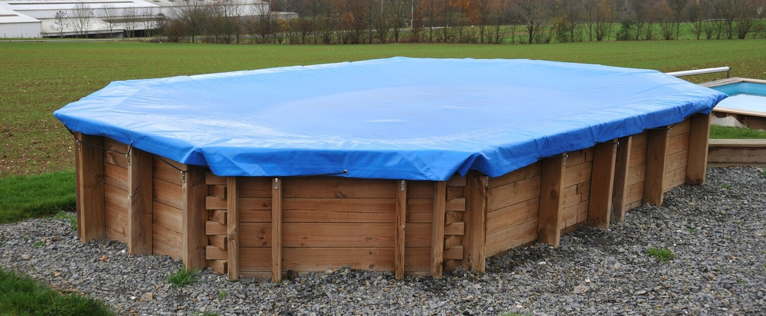 7.27m x 3.96m Debris Cover for Wooden Pool