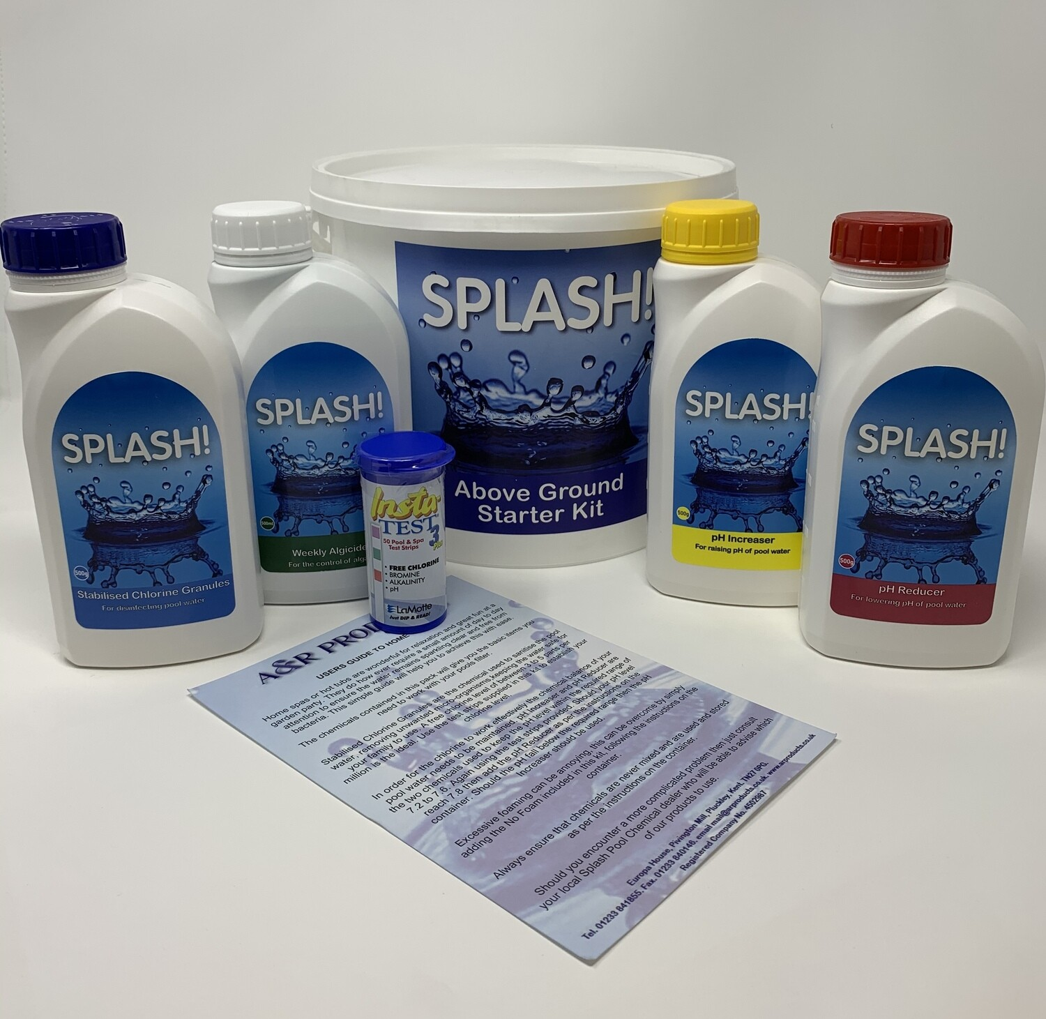 Above Ground Pool Starter Chemical Kit