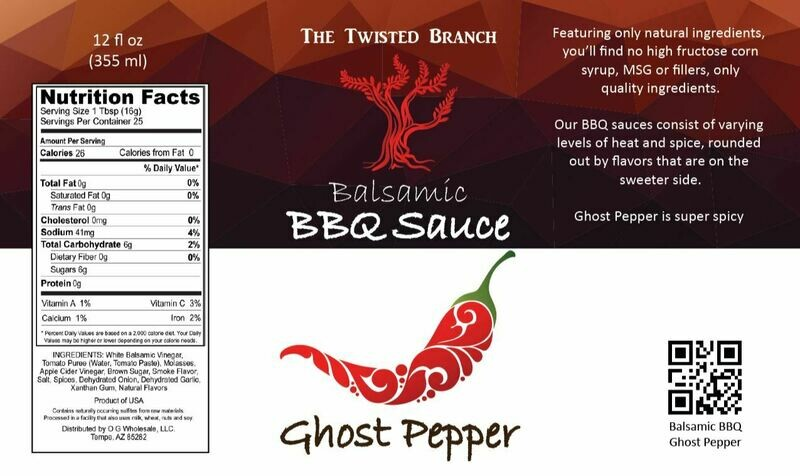 Balsamic BBQ Sauce - Ghost Pepper
