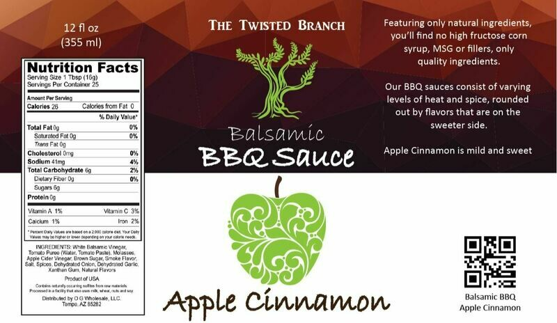 Balsamic BBQ Sauce - Apple Cinnamon
