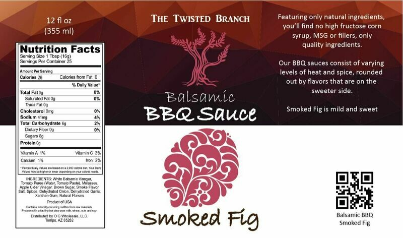 Balsamic BBQ Sauce - Smoked Fig