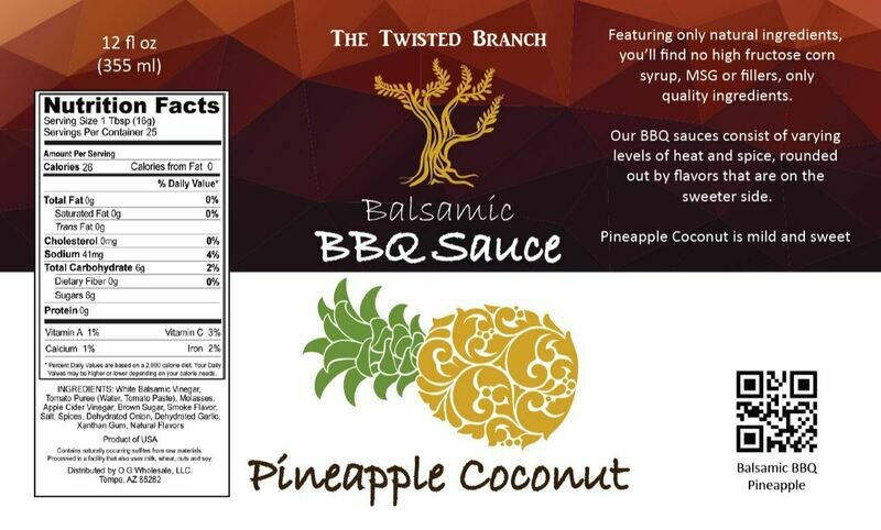 Balsamic BBQ Sauce - Pineapple Coconut