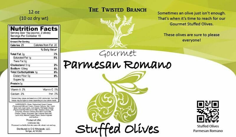 Stuffed Olives - Parmesan Romano