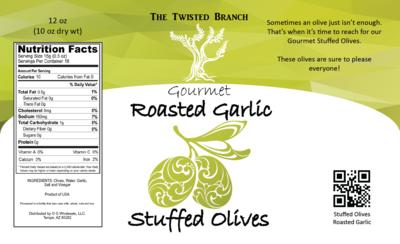 Stuffed Olives - Roasted Garlic