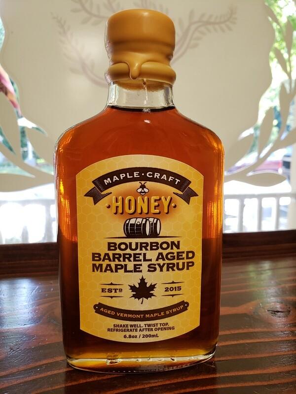 Maple Syrup - Honey Infused Bourbon Barrel