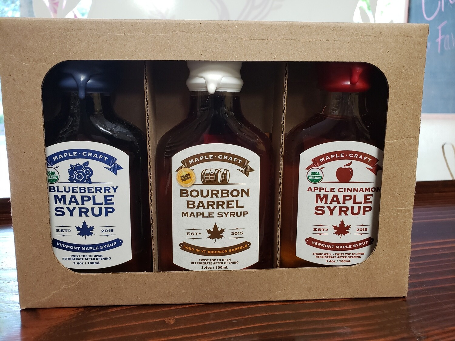 "Maple Syrup - ""Red White & Blue"" Sample Pack"