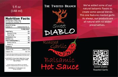 Balsamic Hot Sauce - Roasted Garlic
