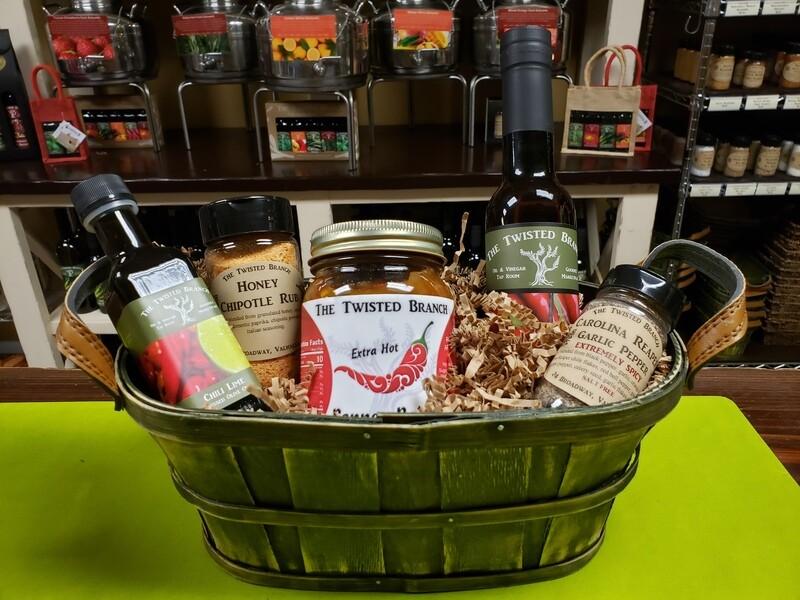 Custom Gift Basket Wrapping - Medium Basket