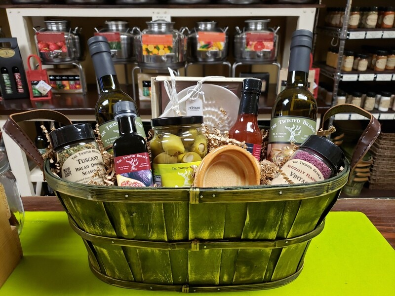Custom Gift Basket Wrapping - Large Basket