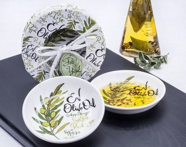 EV Olive Oil Dipping Dishes (Set of 2)