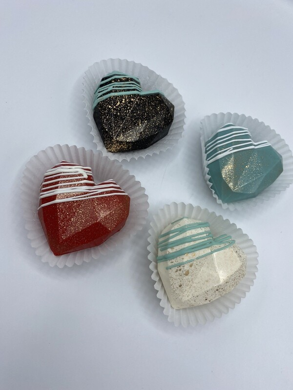 Heart-shaped Hot Beverage Bombs - 4 pack