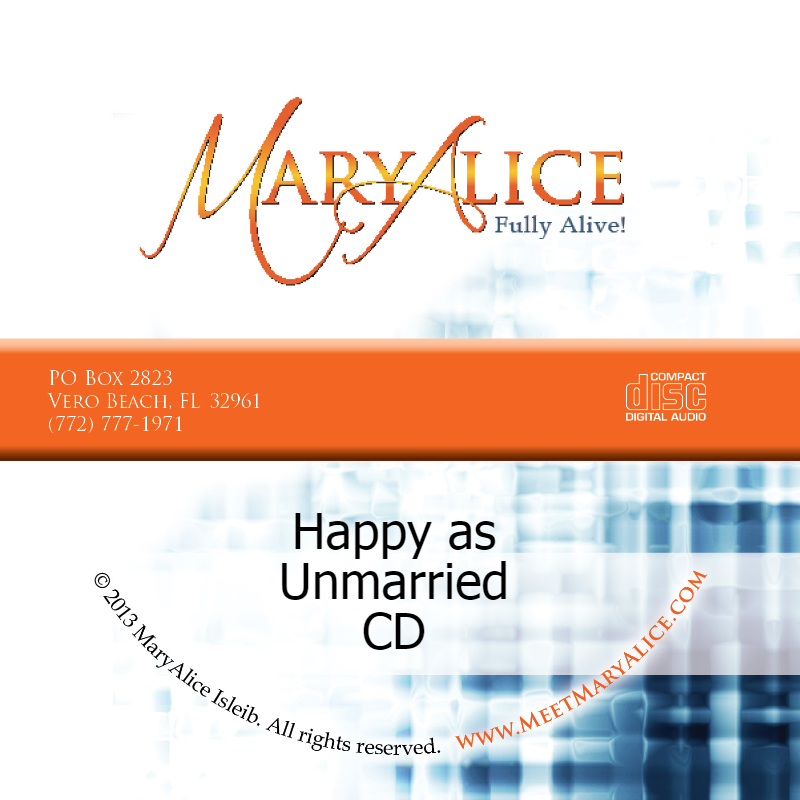 NEW PRICE- Happy as Unmarried CD