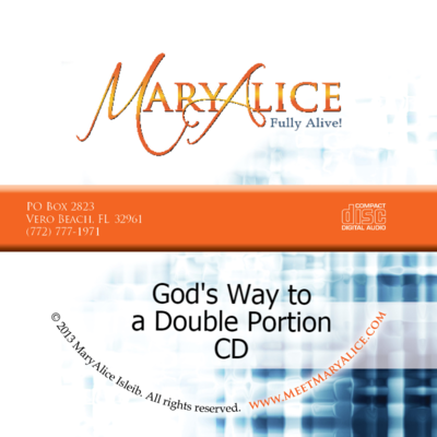NEW PRICE- God's Way to a Double Portion CD