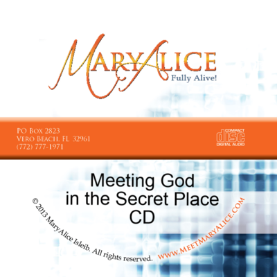 NEW PRICE- Meeting God in the Secret Place CD