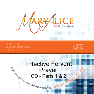NEW PRICE- Effective Fervent Prayer CD Parts 1 & 2