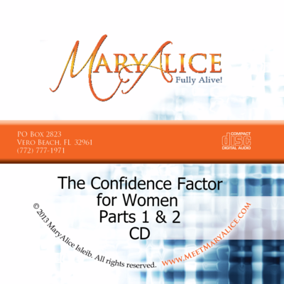 NEW PRICE - The Confidence Factor for Women CD Parts 1 & 2