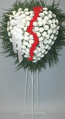 Broken Heart - White Carnations