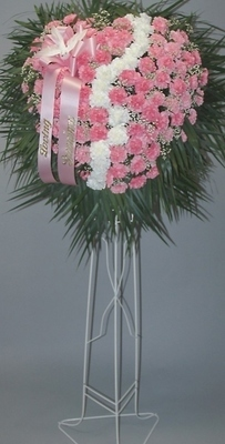 Broken Heart - Pink/Red Carnations