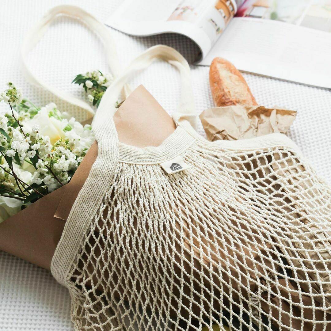 Organic Cotton Net Tote Bag