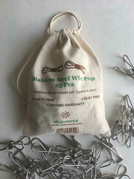 Stainless Steel Wire Pegs (Set of 25)