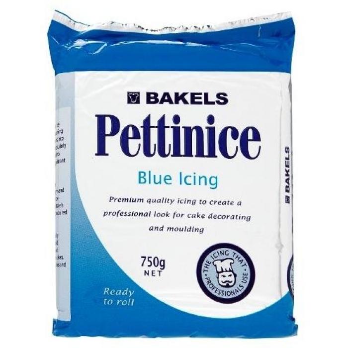 PLASTIC ICING 750G BAKELS BLUE