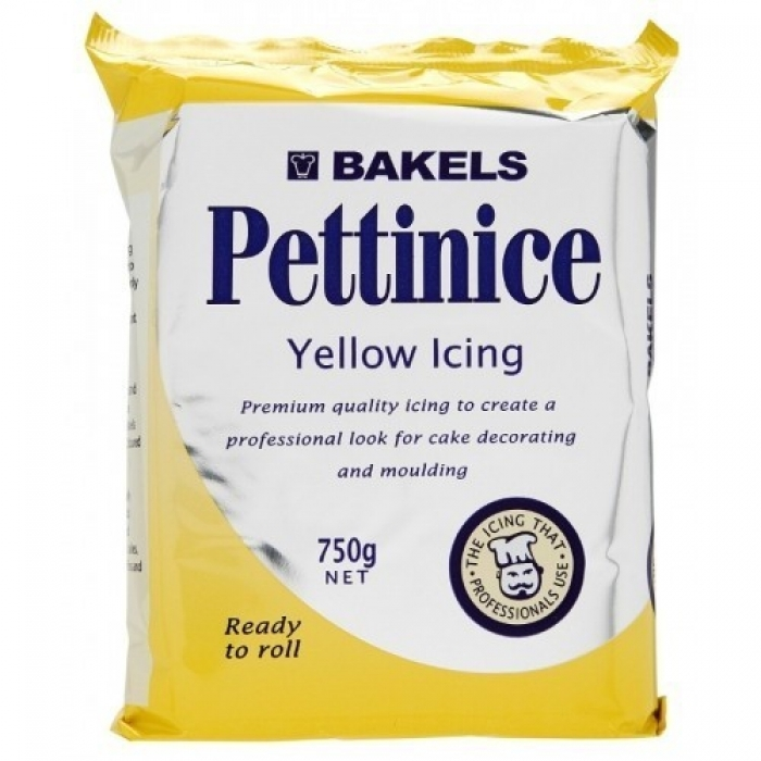 PLASTIC ICING 750G BAKELS YELLOW