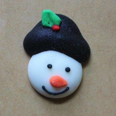Sugar Snowman Head