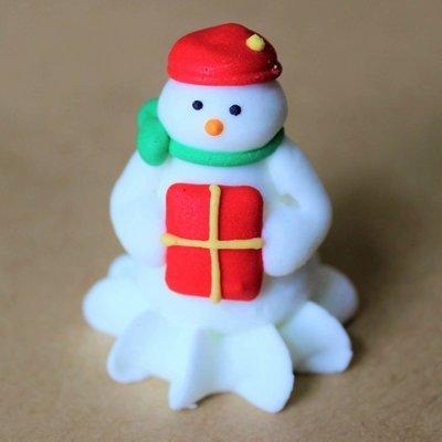 Sugar 3D Snowman with Present