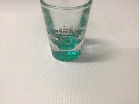 Dead Mans Curve Shot Glass