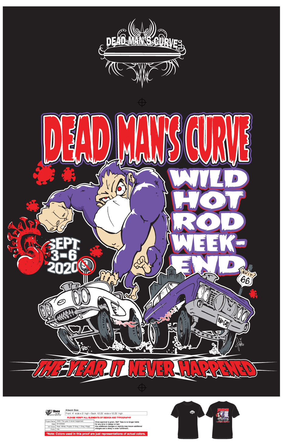 DMC Wild Weekend 9 T-Shirt (Mens) Black Large