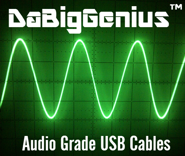 DaBigGenius(TM) No 5 Volt Audio Grade USB Cable Type B