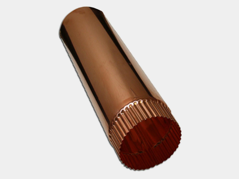 Plain Round Copper Downspout