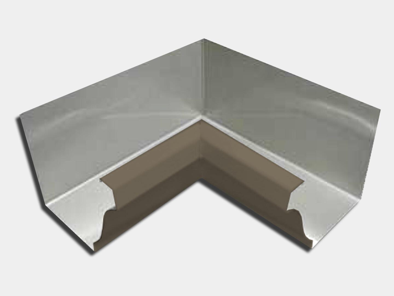 Kynar Steel K-Style Gutter Inside Miter