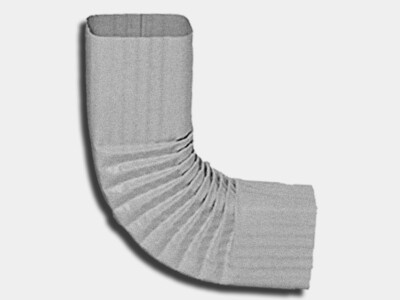 Square Corrugated Galvalume Elbow (B) Style