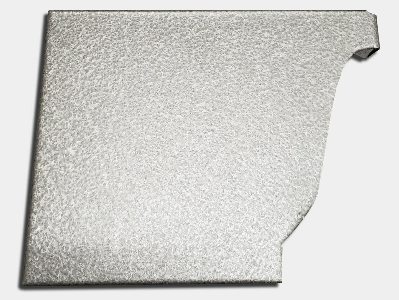 K-Style Galvalume Gutter Left / Right End Cap