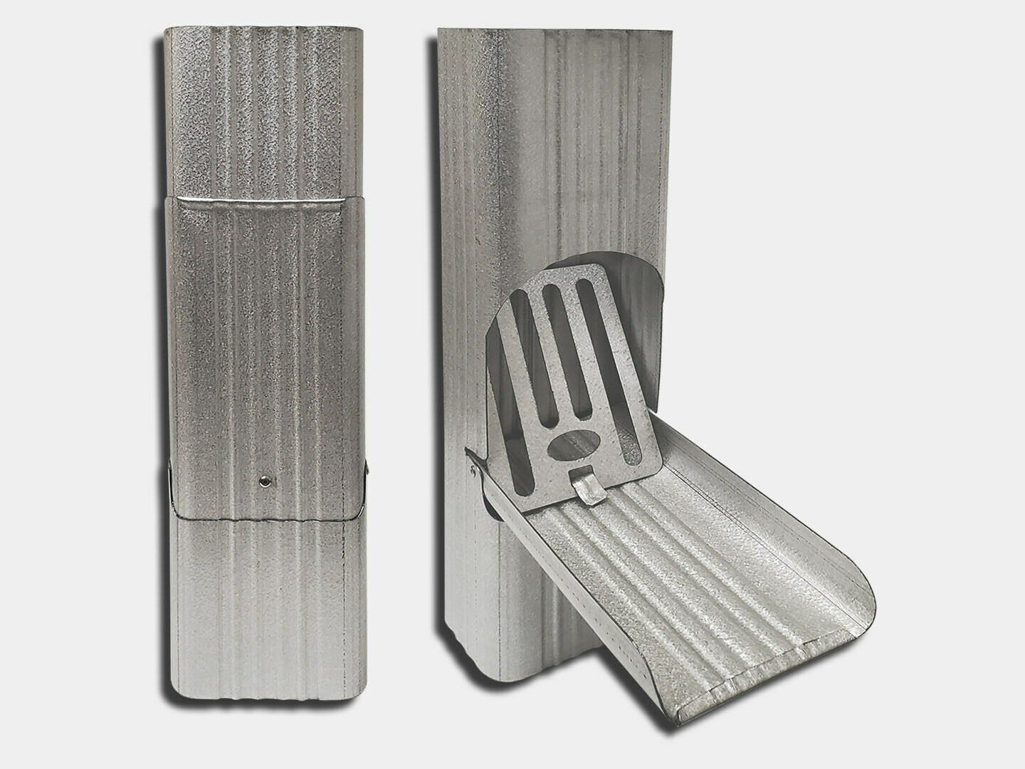 Square Corrugated Galvalume Downspout Cleanout