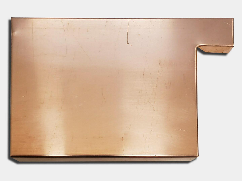 Commercial Box Gutter Copper Left / Right End Cap