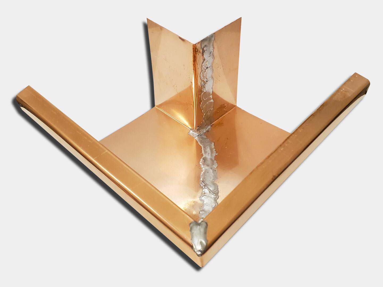 Copper K-Style Gutter Outside Miter
