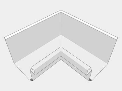 Galvalume Residential Box Gutter Inside Miter